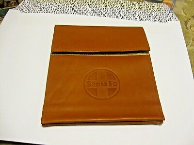 Vintage Santa Fe Railroad Small Cluth Leather Hand Bag Ticket Pouch  NICE