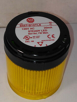 1 New Allen-Bradley 855T-B10Tl8 Yellow Steady Light Ser C Nnb ***make Offer***