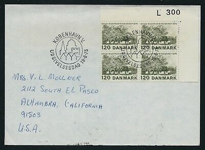 DENMARK 1975 European Architectural Heritage Block USA First Day Cover SHS