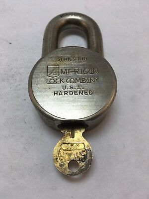 American Padlock Series H10 with  One Key