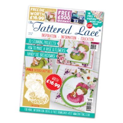 Card Making - Tattered Lace Magazine Issue 39 Including -  Esme and Button die