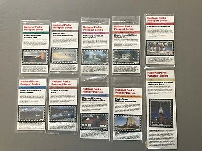 10 PASSPORT TO YOUR NATIONAL PARKS  NPS 1987 STAMP SERIES Not Cancellation