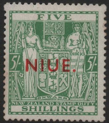 NIUE: 1941 - Sg 80 - 5/- Green Mounted Mint Example - Cat £400 (20701)