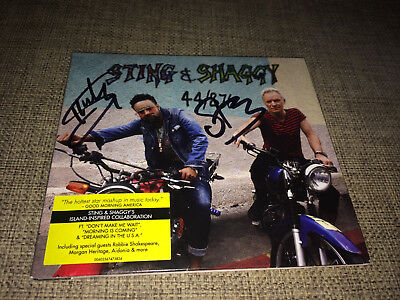 Sting & Shaggy - 44 / 876 - Strictly Limited Autographed Hand Signed Cd No Promo