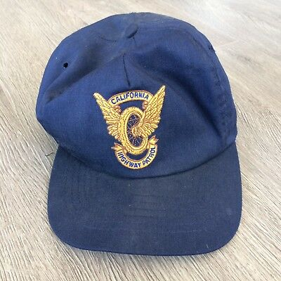 Vintage obsolete California Highway Patrol Police Snap Back Embroidered Hat Cap