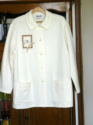 Neuf !  Veste d'appartement  blanche -  LINVOSGES -  taille 46-48