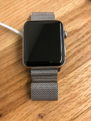 designer fashion fce14 1661e APPLE WATCH SERIES 3 42mm Stainless Steel Case with Milanese Loop (GPS +  Cellula