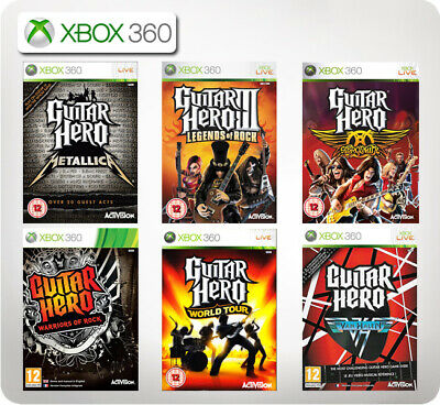 XBOX 360 GUITAR Hero Warriors of Rock Guitar + 1 Game