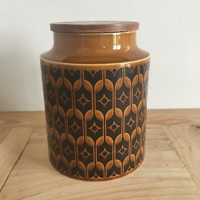 Vintage Hornsea 'Heirloom' Large Food Storage Lidded Canisters 8 Inches Tall