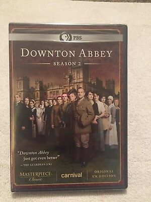 Downton Abbey: Season 2 (DVD, 2012, 3-Disc Set) New Sealed