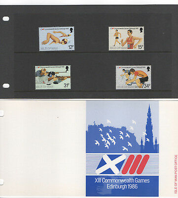 1986 Isle of Man Presentation Pack XIII Commonwealth Games Edinburgh