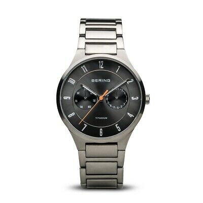 BERING Time 11539-779 Mens Titanium Collection Watch with Titanium Band and scra