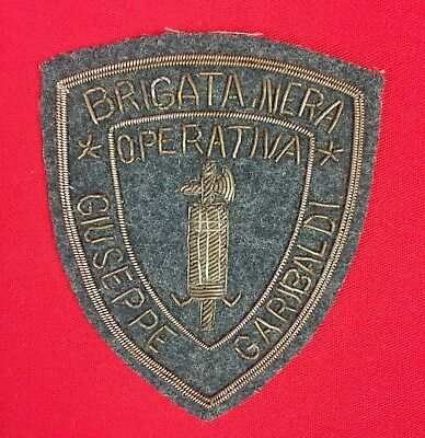 Ww2 Italian Fascist Rsi Black Brigade Arm Badge/shield Brigata Nera Wwii