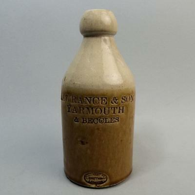 Lovely Victorian Lawrance & Son Yarmouth & Beccles Ginger Beer Bottle