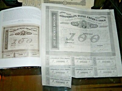Antique 1863 Civil War Confederate States America $100 Bond