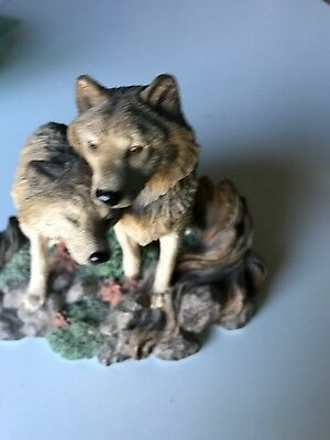 LIVING STONE WOLF SWEETHEARTS classic Figurine Manufactured in 1998 USA Box10/17