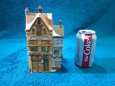 """1988 Dept 56 Dickens Village """"Silas Thimbleton Barrister Counting House"""""""