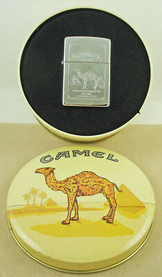 Zippo CAMEL Advertising Lighter Double Sided Mint in Original Tin Oasis Logo