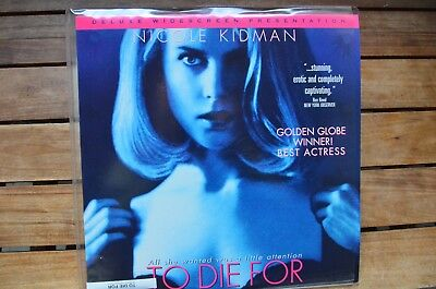 TO DIE FOR with Nicole Kidman NEW LaserDisc FREE Post mmoetwil@hotmail.com