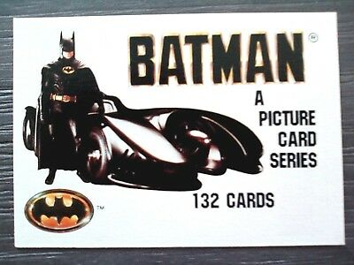 1989 Batman (A Picture Card Series) Trading Cards - 70 Different Cards