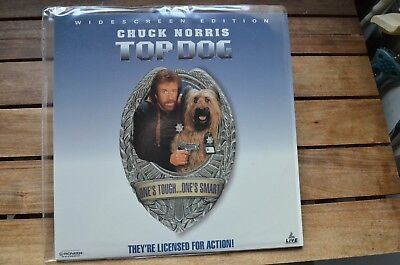 TOP DOG comedy with Chuck Norris - NEW LaserDisc FREE Post mmoetwil@hotmail.com