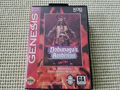 Nobunaga's Ambition - Authentic - Sega Genesis - Case / Box Only!