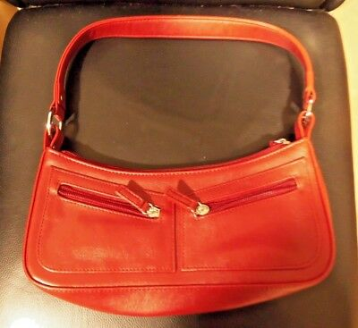 red bhs hand bag