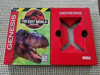 The Lost World Jurassic Park - Authentic - Sega Genesis - Case / Box Only!