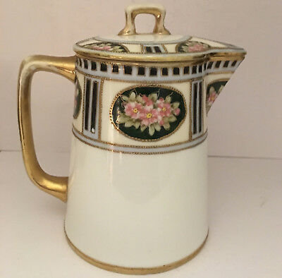 Morimura Nippon Covered Syrup Pitcher 1911-21 Hand Painted EUC