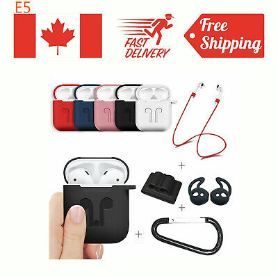 Strap Holder & Silicone Case Cover For Apple Airpod Airpods Accessories Air Pod