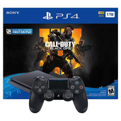 Sony PS4 Slim 1TB Call of Duty Bundle with Extra Controller