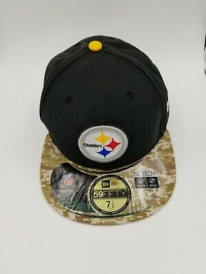 best website 9deb5 5332a Pittsburgh Steelers 59Fifty Salute To The Service New Era Hat Sz 7 1 2 Camo