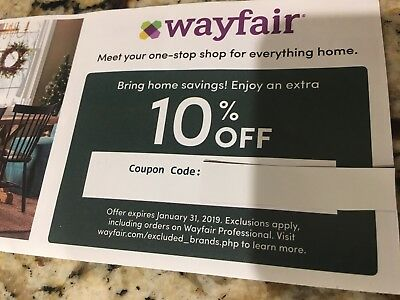WAYFAIR COUPON: 10% off ENTIRE Purchase- Good thru 1/31/19 -100% to PET SHELTER