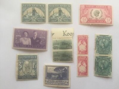 SOUTH AFRICA old mint stamps includes some pairs - lot2
