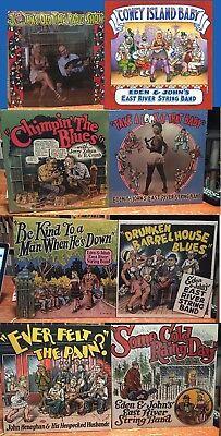 "11 LP LOT R. Crumb Cover ""EAST RIVER STRING BAND"" $260 VALUE Robert Crumb cover"