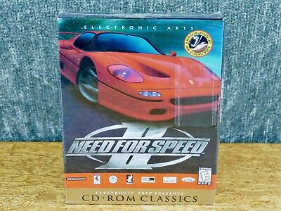SEALED Need for Speed II (PC, 1997) BIG BOX electronic arts ea complete cd-rom