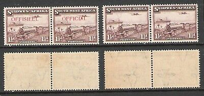 South West Africa 1937 Mail Train Pairs (Hm/uhm)