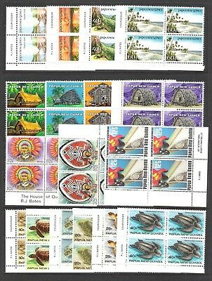 Papua New Guinea Various Block Sets On Page (Uhm)