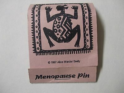 """Alice Warder Seely Pewter Brooch """"Menopause Pin"""" Urban Fetishes MIP 1997"""