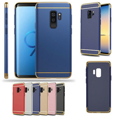 For Samsung Galaxy S9 S8 Plus Note J7 J5 A7 A5 ON Electroplate 3 IN 1 Case Cover