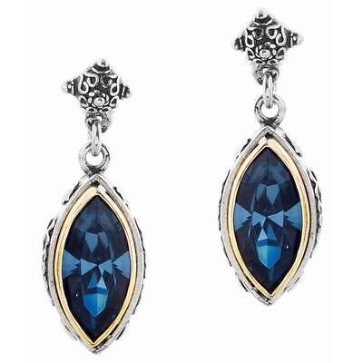 S174 ~ Sterling Silver & Swarovski Medieval Drop Earrings
