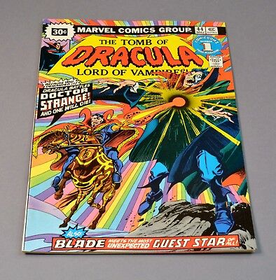 """The Tomb of Dracula # 44 marvel comic graded 7.0 FN/VF """"30 cent variant""""!"""