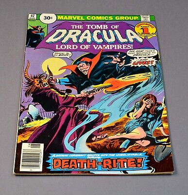"""The Tomb of Dracula # 47 marvel comic graded 7.0 FN/VF """"30 cent variant""""!"""