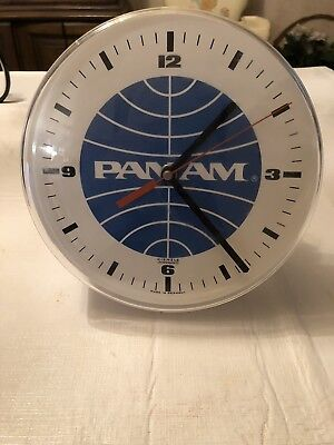 Vintage Pan Am Airlines Kienzle Wall Clock West Germany