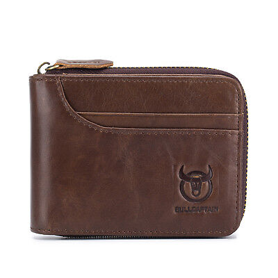 Mens Genuine Leather Wallet ID Money Credit Card Holder Money RFID Clutch Pocket