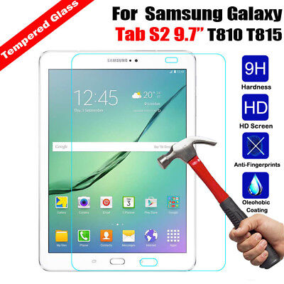 9H Tempered Glass Screen Protector Guard For Samsung Galaxy Tab S2 9.7 T810 T815