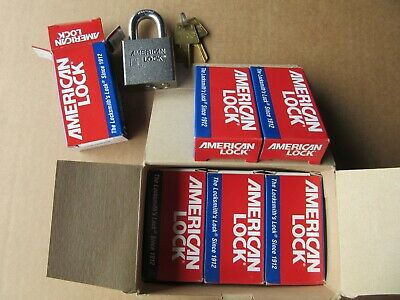 (6) American Lock A5260KA Heavy Duty Pad Locks Keyed Alike NEW! Free 2 Day FedEx