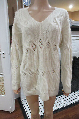 Vintage 100% Cashmere Gorgeous Thick Weave Neiman Marcus Sweater One Sz