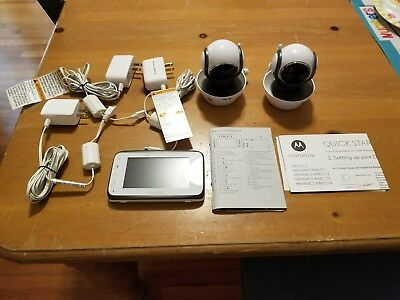 Motorola MBP854CONNECT Digital Video Baby Monitor + second MBP85CONNECT camera