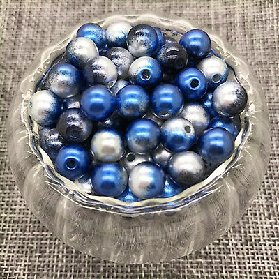 NEW 6MM 100PCS Acrylic Colour Round Pearl Spacer Loose Beads Jewelry Making #06